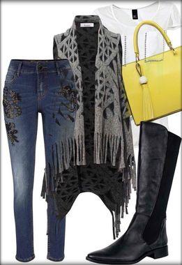 Štýlový džínsový outfit s vestou