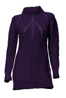Štýlový fialový pulóver HEINE - B.C.