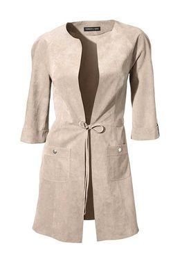 Elegantný semišový kabát na zaviazanie Patrizia Dini