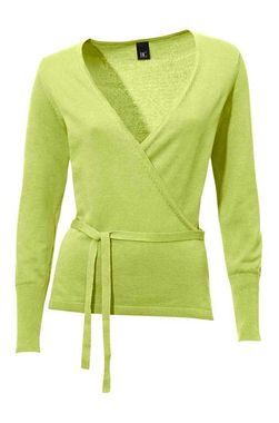 Svieži zelenkavý zavinovací sveter HEINE - B.C.