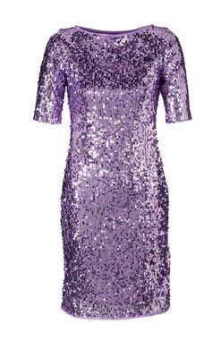 Trblietavé fialové šaty APART