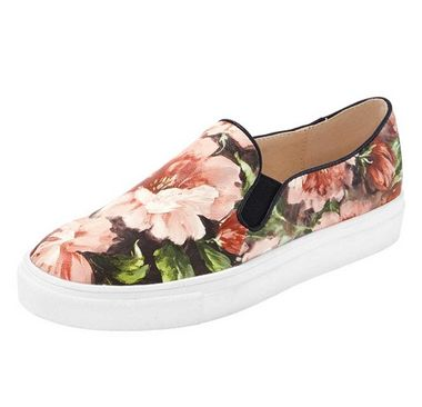 Kvetinové slippery Heine ružové