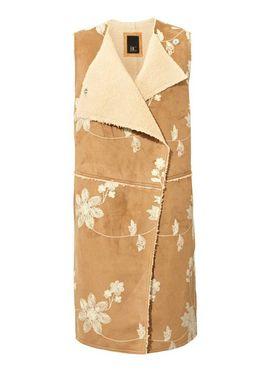 Dlhá vyšívaná vesta -imitácia kože HEINE