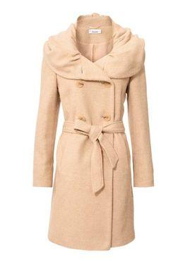 Vlnený kabát, béžový Linea Tesini