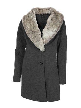 Vlnený kabát s kožušinou HEINE - B.C.