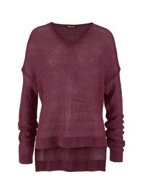 Voľný bordový pulóver Chillytime
