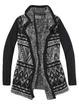Žakarový sveter, čierno-biely ARQUEONAUTAS