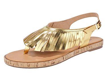 Zlaté sandále Heine