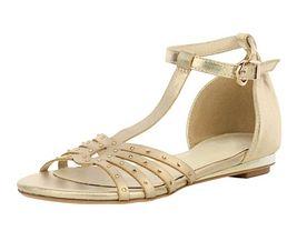 Zlaté sandálky so štrasmi Andrea Conti