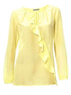 Žltá blúzka s hodvábom Ashley Brooke