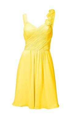 Žlté koktailové šaty Ashely Brooke event