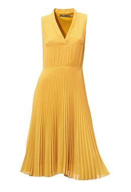 Žlté šaty s plisovanou sukňou Ashley Brooke