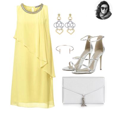 Žlté šifónové šaty