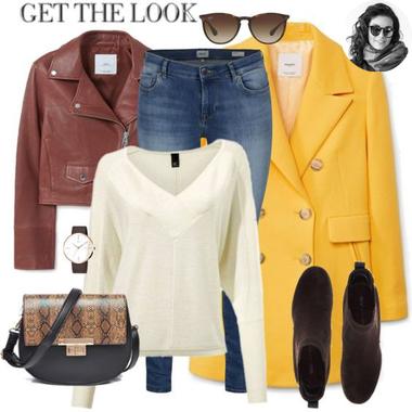 Žltý jarný kabát