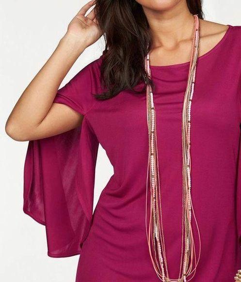 APART tričko v štýle peleríny, purpurová