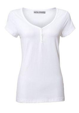 Biele bavlnené tričko Ashley Brooke