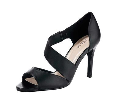 Čierne sandále z ovčej kože HEINE