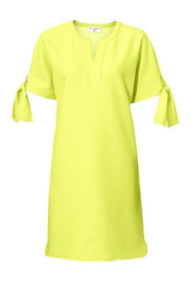 Citrónové šaty s mašličkami