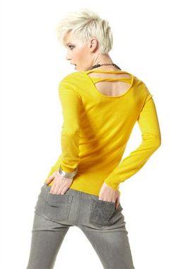 Dámsky žltý pulóver Material Girl