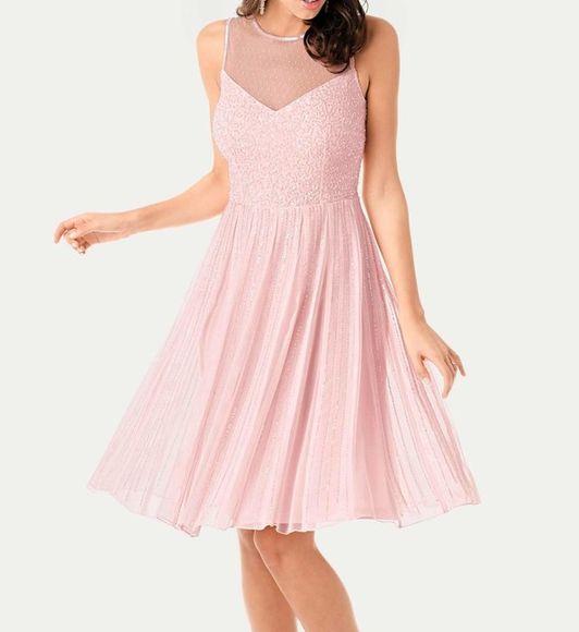Spoločenské šaty Ashley Brooke, ružová