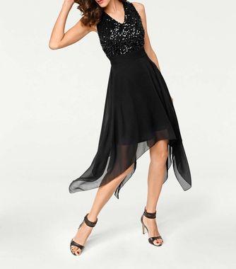 Koktejlové asymetrické šaty, čierne