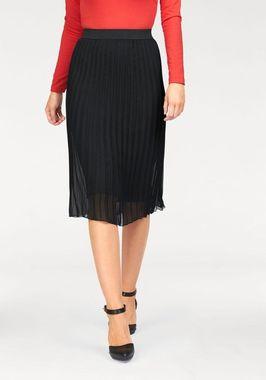 Plisovaná sukňa Bruno Banani, čierna