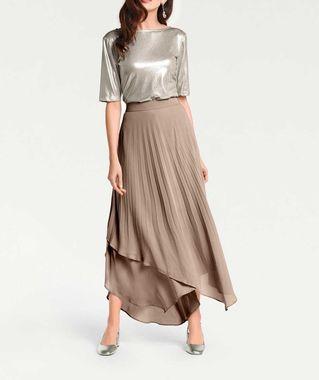 Plisovaná sukňa Patricia Dini, sivobéžová