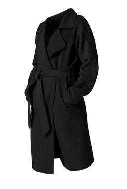 Vlnený kabát Guido Maria Kretschmer, čierna