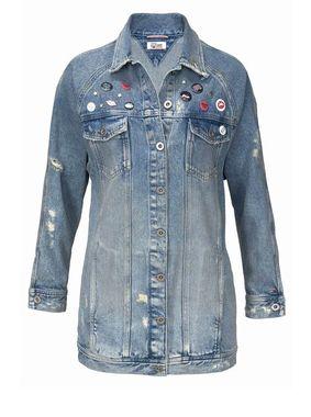 Dlhá džínsova bunda TOMMY HILFIGER DENIM