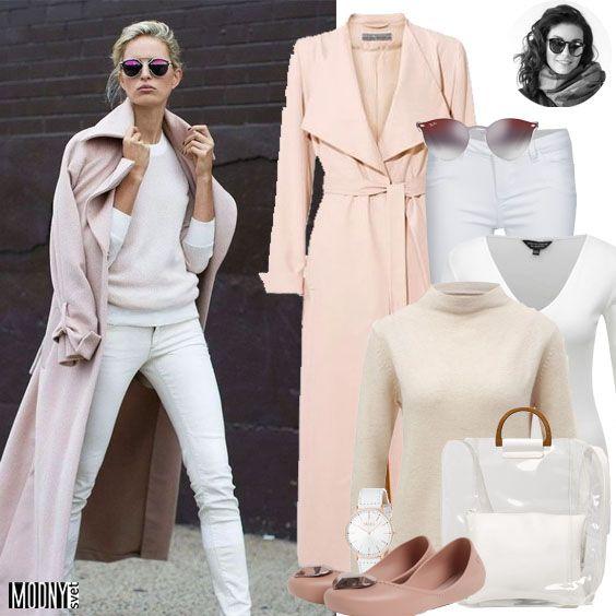 Dlhý plášť v ružovej farbe