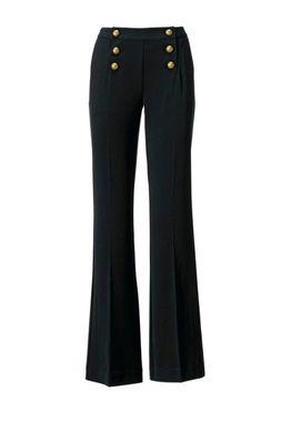 Elegantné bootcut nohavice, čierne