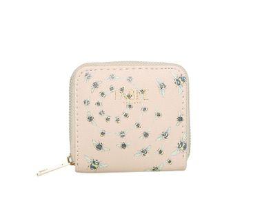 FABLE peňaženka s vyšívanými včelami - béžová