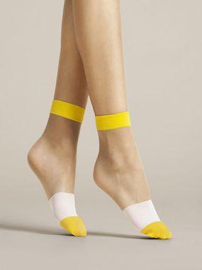 FIORE silonkové ponožky BICOLORE, žlté