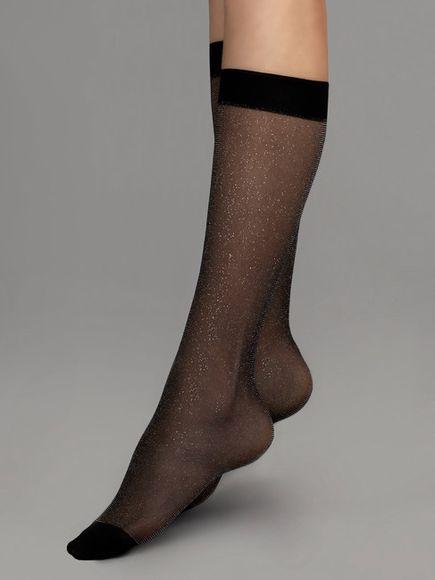 FIORE silonkové ponožky KAIA 20 den, čierna