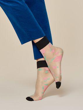 FIORE silonkové ponožky kvetované, BLOSSOM