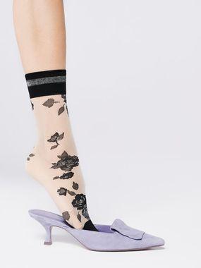 FIORE silonkové ponožky kvetované, FLORENCE