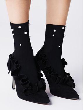 FIORE silonkové ponožky s perličkami, PERLINE