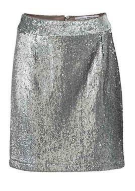 Flitrovaná sukňa, strieborná