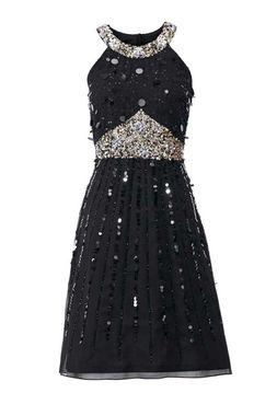 Flitrové šaty, čierne