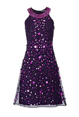 Flitrové šaty, čierne-ružové
