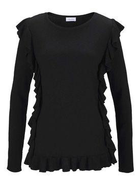 Jemný pletený pulóver Aniston, čierny
