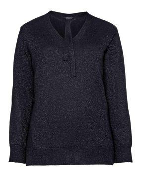 Jemný pletený sveter s metalickými vláknami, čierna