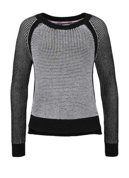 KangaROOS pulóver, čierno-biely