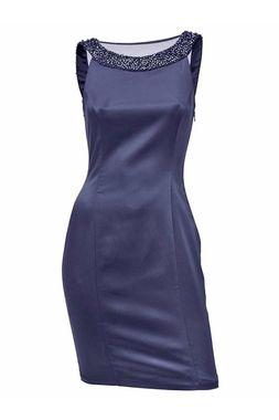Koktejlové šaty s perlami Ashley Brooke event 21b9fc96321