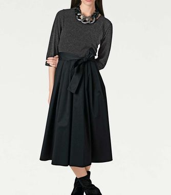 Kombinované šaty Rick Cardona, tmavošedo-čierne