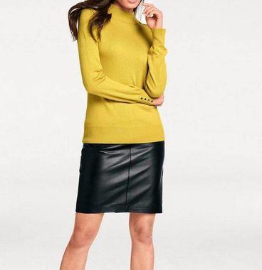 Kožená-nappa sukňa, čierna