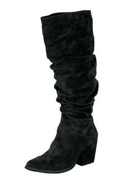 Kožené semišové čižmy Andrea Conti, čierna