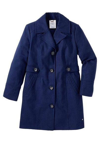 Vlnený kabát S.Oliver, modrý