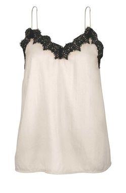 Letný top béžovo-čierny Vero Moda