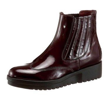 Marc O´Polo kotníkové topánky Chelsea, bordové